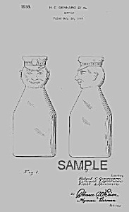 1930s Cream Top Cop Top Milk Bottle Patent