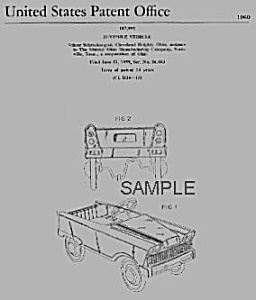 Patent Art: 1960s Murray Pedal Car-matted