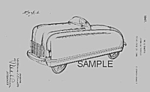 Amazing 1940s Pedal Car Patent-matted