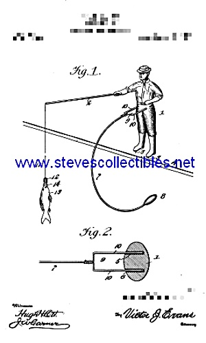 Patent Art: 1900s FISHERMAN Balancing TOY - matted (Image1)