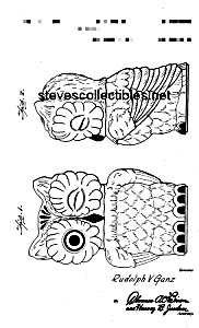 Patent Art: 1940s Shawnee Owl Cookie Jar - Matted
