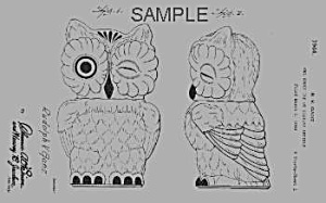 Patent Art: 1940s SHAWNEE OWL Cookie Jar - matted (Image1)