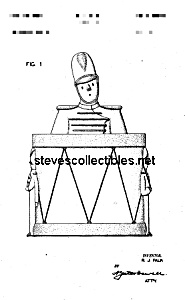 Patent Art: 1940s SHAWNEE DRUM MAJOR Cookie Jar (Image1)