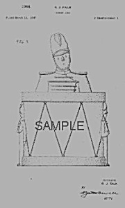 Patent Art: 1940s Shawnee Drum Major Cookie Jar
