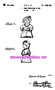 Patent Art: 1940s Shawnee Boy Blue Shaker - Matted