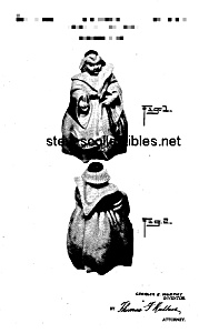 Patent Art: 1940s RED WING MONK Cookie Jar -Matted (Image1)