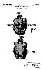 Patent Art: 1940s RED WING PIERRE CHEF Cookie Jar (Image1)