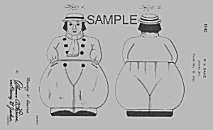 Patent Art: 1940s SHAWNEE JACK COOKIE JAR - matted (Image1)