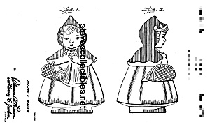 1940s Hull Red Riding Hood Cookie Jar Patent