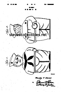 Patent Art: 1940s SHAWNEE JACK TAR COOKIE JAR - Matted (Image1)