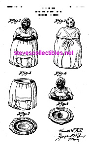 Patent Art: 1940s BLACK MAMMY Cookie Jar - matted (Image1)