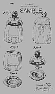 Patent Art: 1940s BLACK MAMMY Cookie Jar - Matted (Image1)