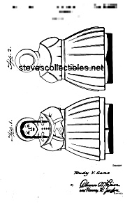 Patent Art: 1940s SHAWNEE JILL COOKIE JAR - Matted (Image1)