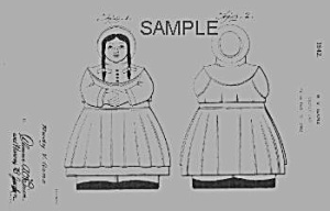 Patent Art: 1940s Shawnee Jill Cookie Jar - Matted