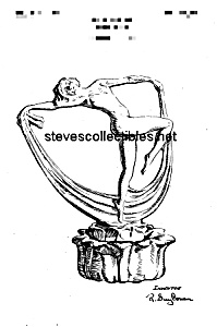Patent Art: 1920s Cowan Pottery Scarf Dancer