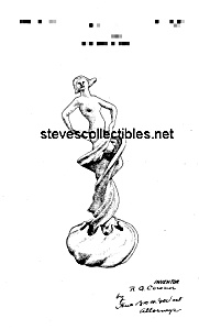 Patent Art: 1920s Cowan Pottery Swirl Dancer - Matted