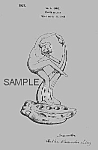 Patent Art: 1920s COWAN POTTERY Nude FLOWER FROG (Image1)