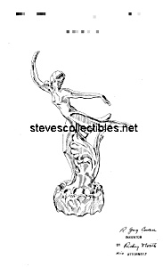 Patent Art: 1920s Cowan Pottery Nude Flower Lady