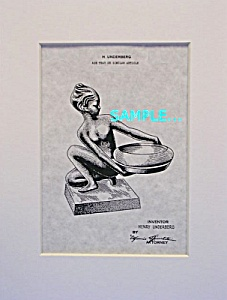 Patent:1930s Art Deco FRANKART NUDE ASHTRAY B (Image1)