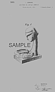 Patent Art: 1930s Art Deco FRANKART WOMAN ASHTRAY (Image1)