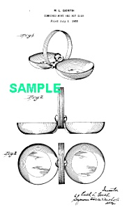 Patent Art: 1930s Art Deco CHASE Gerth MINT/NUT DISH (Image1)