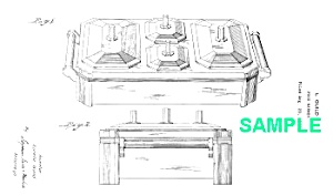 Patent Art: 1930s Art Deco Chase Guild Food Warmer