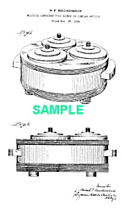Patent Art: 1930s Art Deco CHASE Chromium Server-Matted (Image1)
