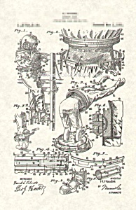 Patent Art: 1921 HARRY HOUDINI Diver's Suit - matted (Image1)