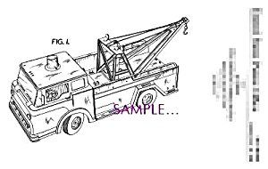 Patent Art: 1960s MARX TOY Tow Truck (Image1)