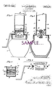 Patent Art: 1930s Glass - Metal NUT CHOPPER (Image1)