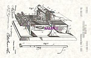 Patent Art: 1890s OLIVER TYPEWRITER - matted (Image1)