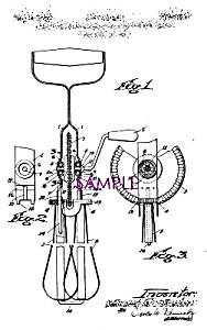 Patent Art: 1930s Kitchen EGG BEATER (Image1)