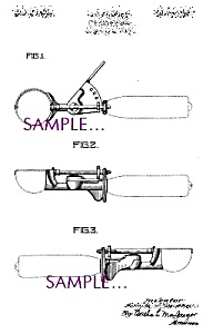 Patent Art: 1930s Scovill ICE CREAM SCOOP (Image1)