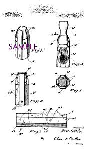 Patent Art: 1920s SHAVING BRUSH Case DESIGN Barber Shop (Image1)
