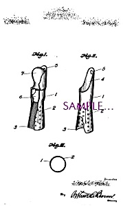 Patent Art: 1920s Shaving Brush Holder Barber Shop