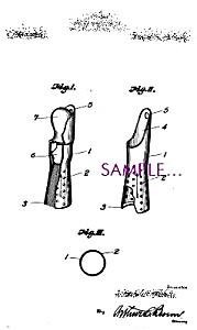 Patent Art: 1920s SHAVING BRUSH Holder BARBER SHOP (Image1)