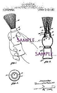 Patent Art: 1920s SHAVING BRUSH DESIGN Barber Shop (Image1)