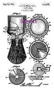 Patent Art: 1920s Kenmar Shaving Brush Design - Matted