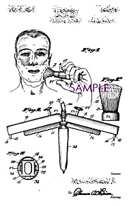 Patent Art: 1930s Shaving Brush Design - Matted
