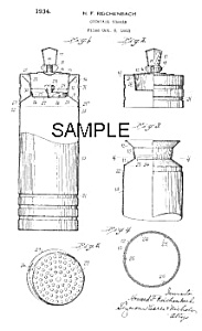 Patent Art: 1930s CHASE Gaeity COCKTAIL SHAKER (Image1)