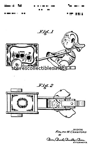 Patent Art: MUSICAL DUCK #795 FISHER PRICE Toy (Image1)