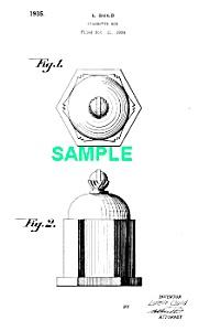 Patent Art: 1930s Art Deco Kensington CIGARETTE BOX (Image1)