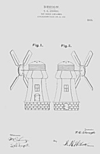 Patent Art: 1910s WINDMILL Candy Container - Matted (Image1)