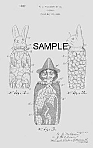 Patent Art: 1930s HOLIDAY Candy Containers - Matted (Image1)
