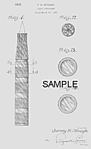 Patent Art: 1930s FOUNTAIN PEN Candy Container - Matted (Image1)