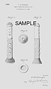 Patent Art: 1950s MUSICAL Candy Container - Matted (Image1)