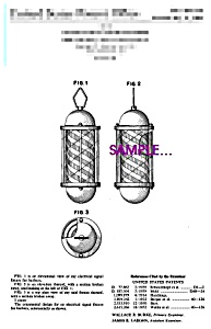 Patent Art: 1960s Barber Shop Signal Light - 8x10