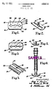 Patent Art: 1930s Gillette SAFETY RAZOR - matted - 5x7 (Image1)