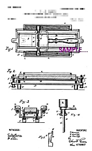 Patent Art: Early 1900s Kampfe RAZOR STROP -8x10-matted (Image1)