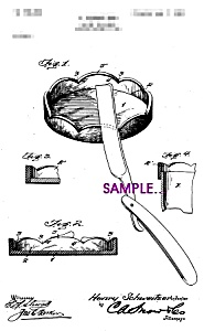 Patent Art: 1900s Straight Edge Razor Cleaner - 5x7